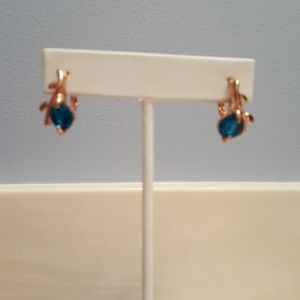Rose Gold and topaz earrings